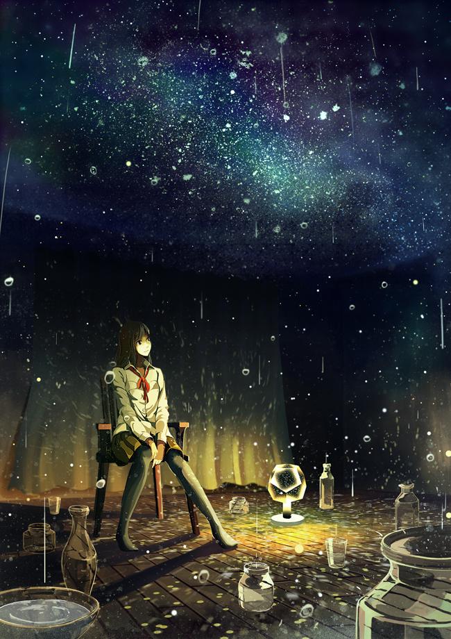 P站画师作品星星的雨声