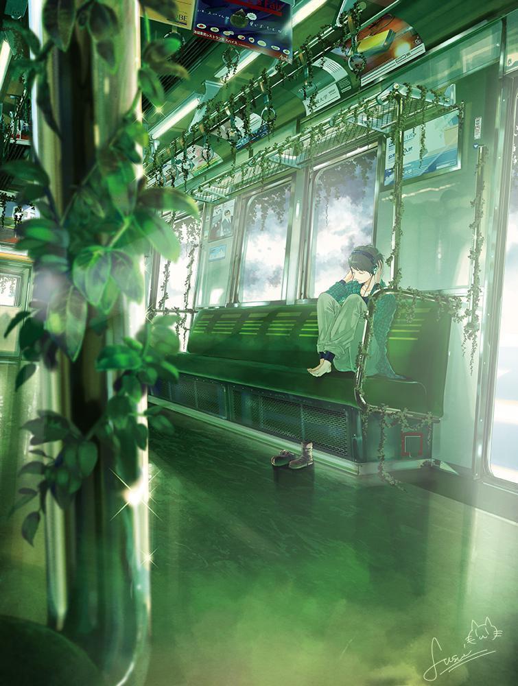 P站画师作品healing train