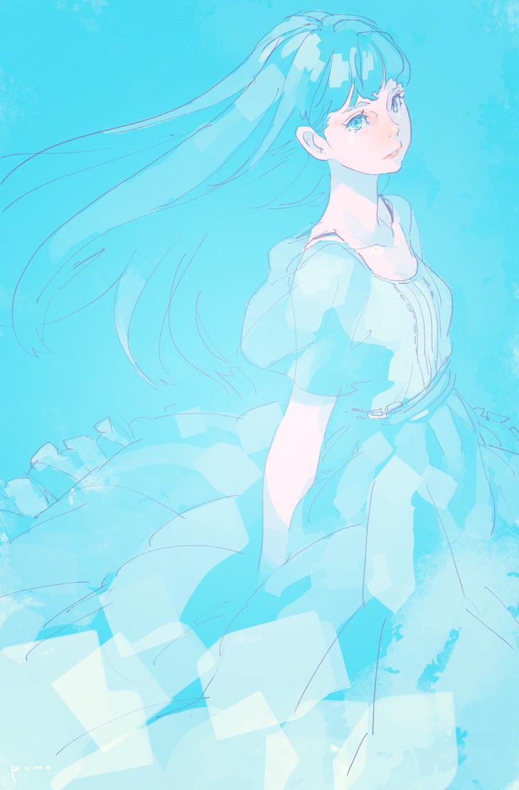 P站画师作品blue