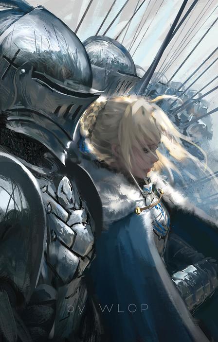 P站画师作品_Saber & Lancelot