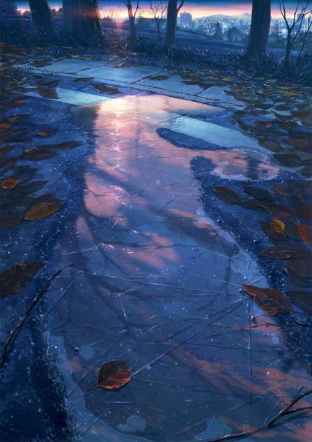 P站画师作品_黎明和破碎的水镜