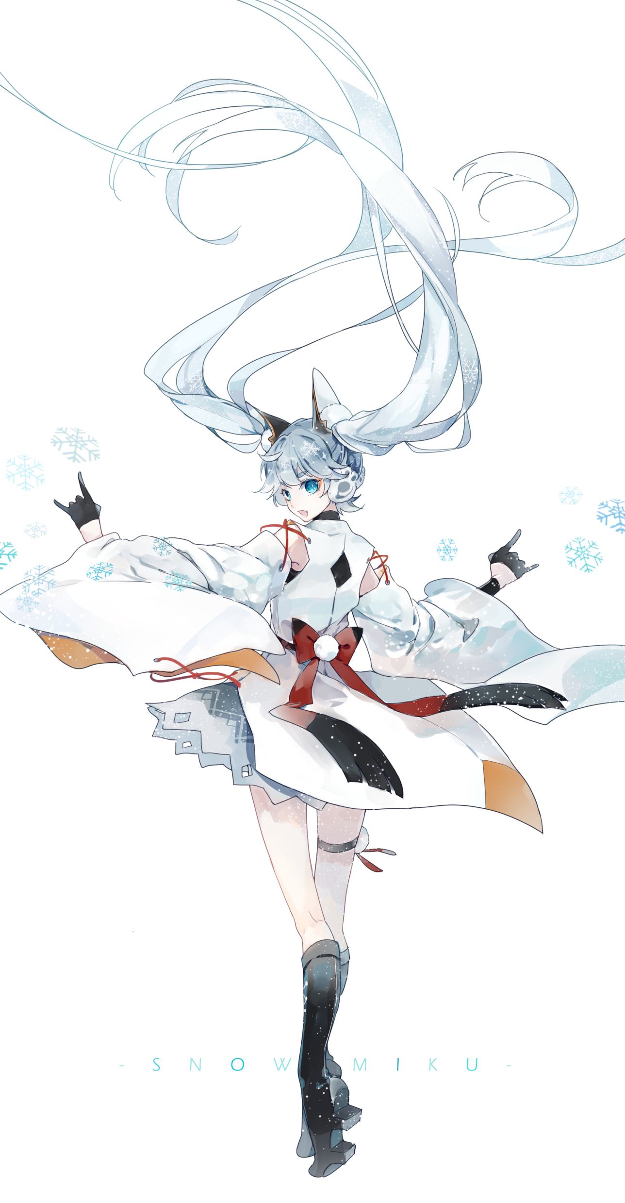 P站画师作品~SNOW MIKU·snow fox ver~