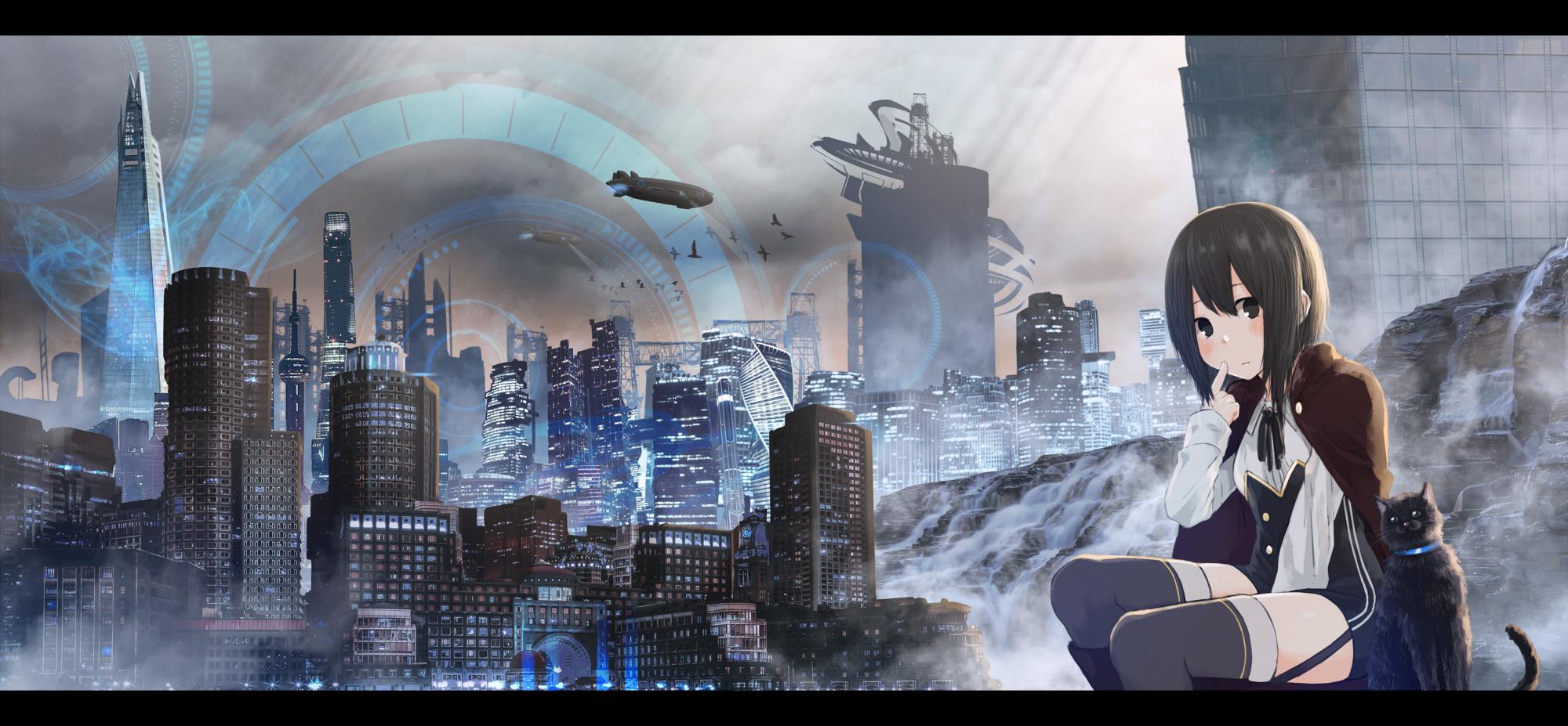 P站画师作品未来都市