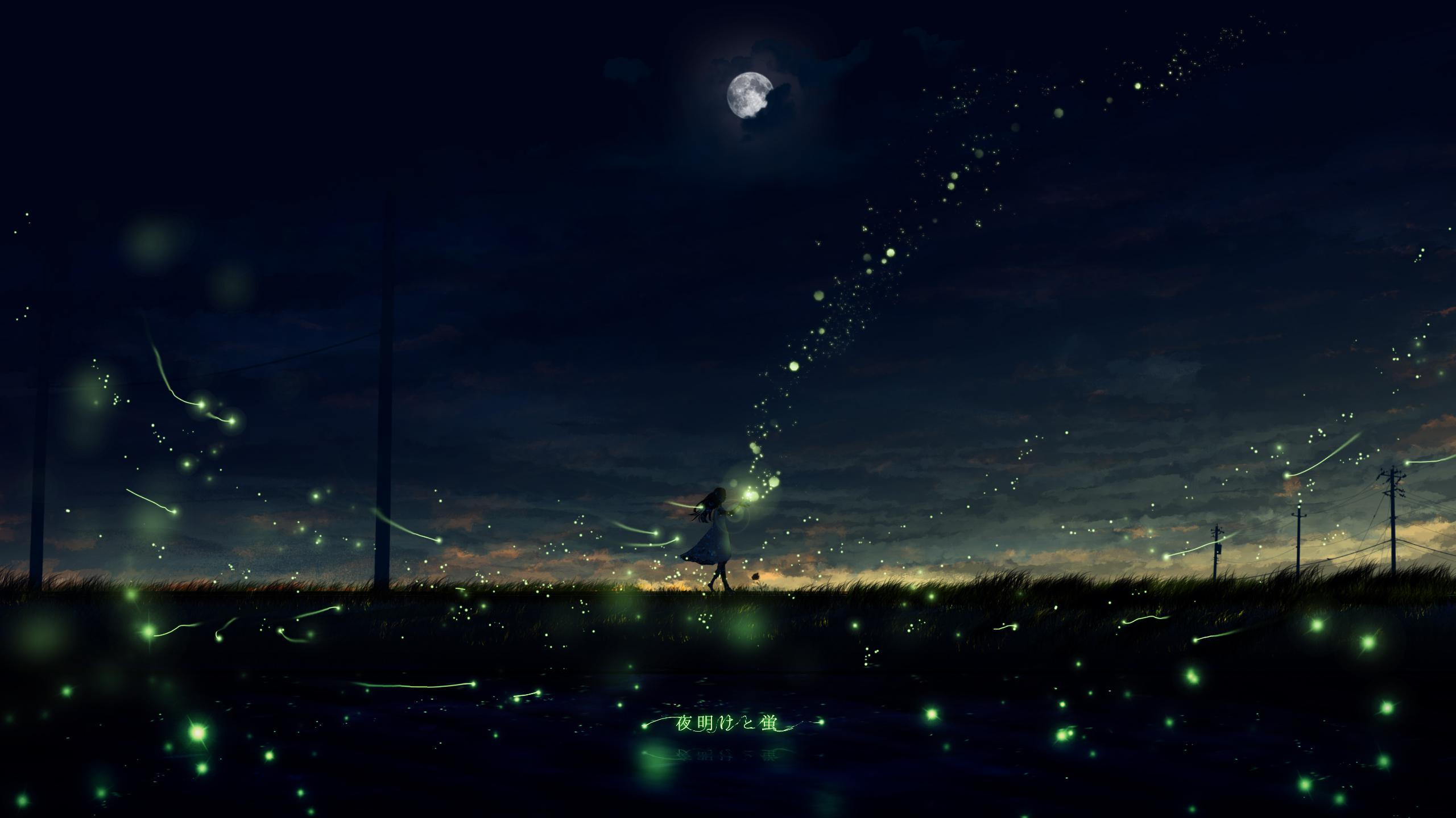 P站画师作品黎明与萤火虫