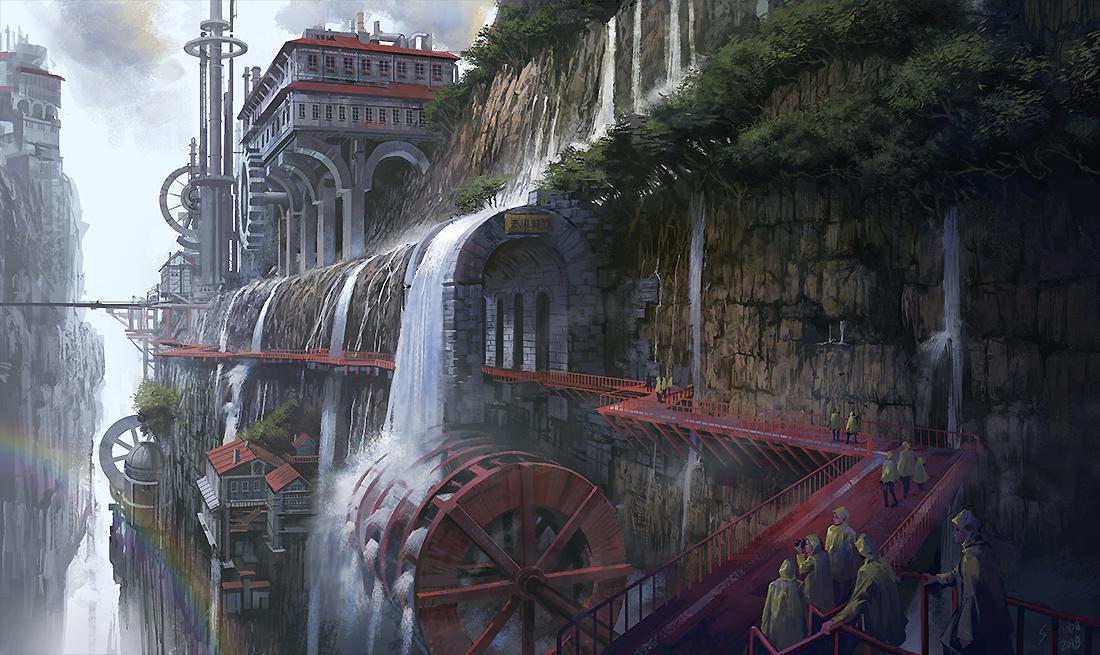 P站画师作品Hydraulic Water Valley