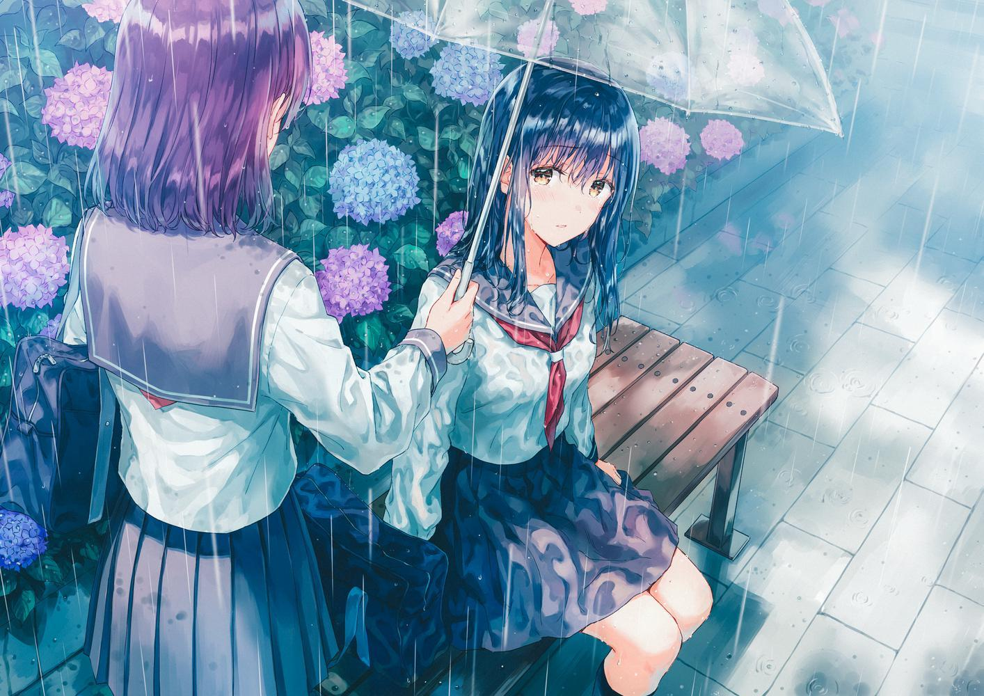 P站画师作品rainy day
