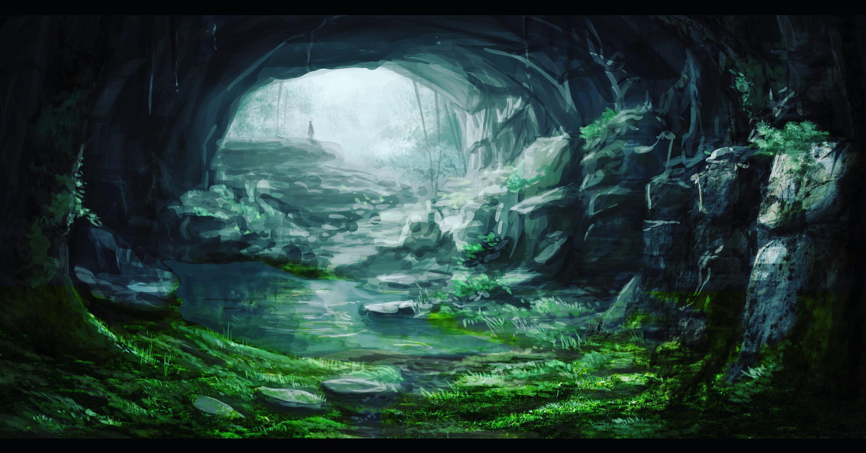 P站画师作品神圣的洞窟
