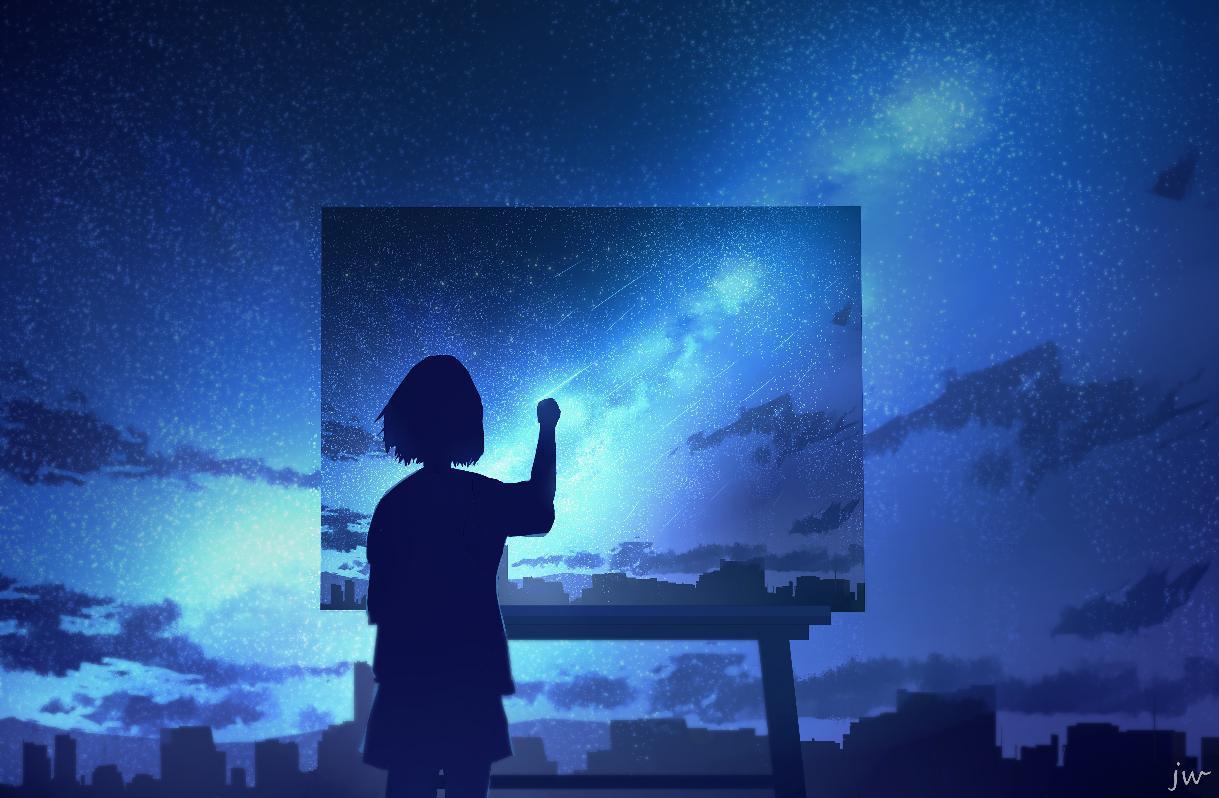 P站画师作品手握星辰,以笔绘梦。