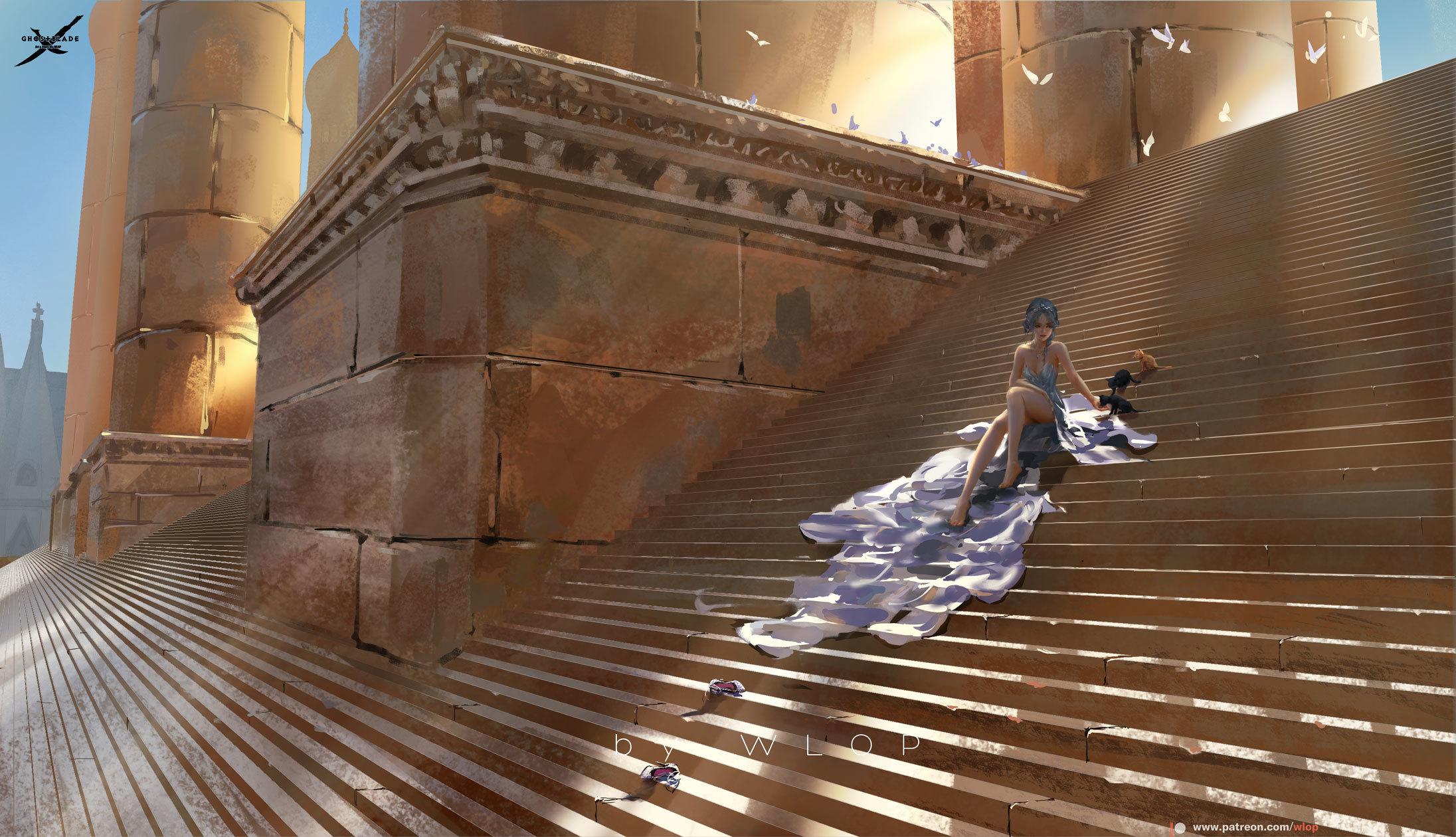 P站画师作品Stairs