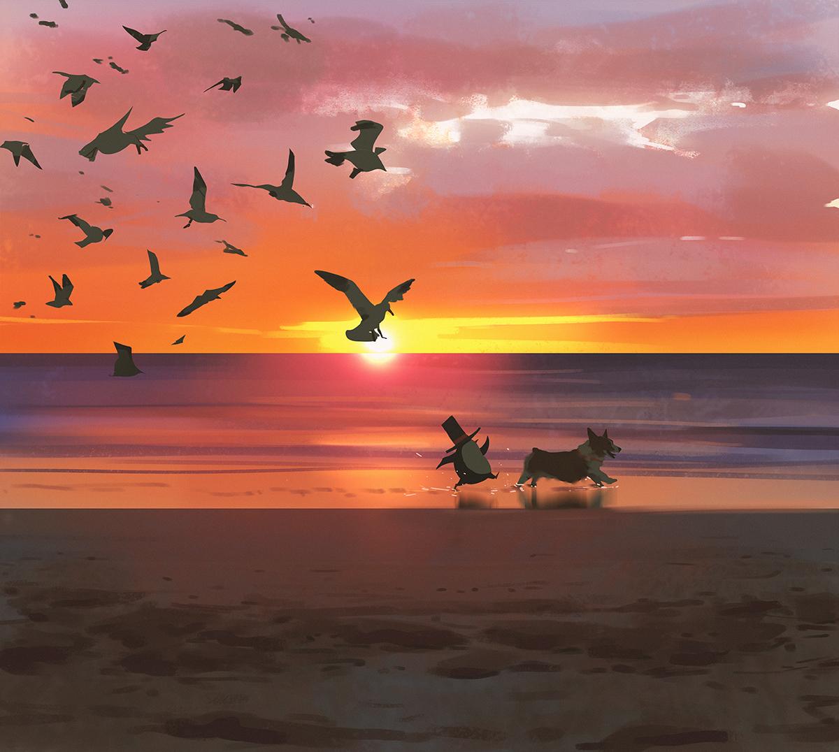 P站画师作品Sunsets