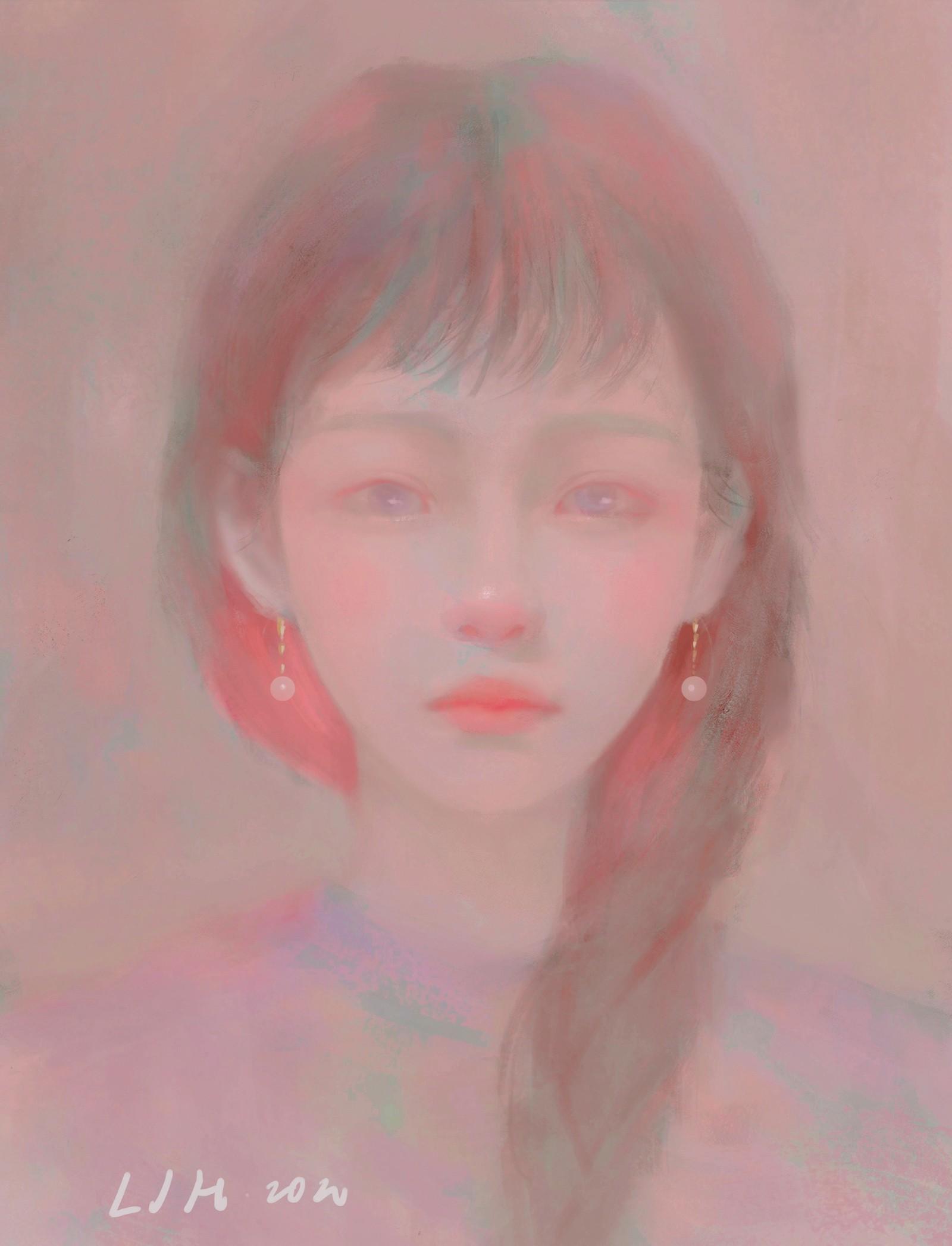 P站画师作品粉红色