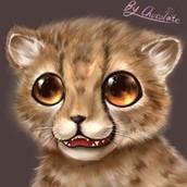 P站画师作品_【厚涂】画了一只小猎豹^q^!!(猫科动物我都好爱!