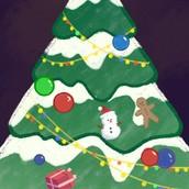 P站画师作品_给自己画的圣诞节壁纸