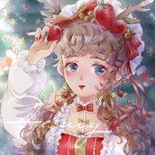 P站画师作品_画一只萌妹祝大家圣诞节快乐🎄🎁