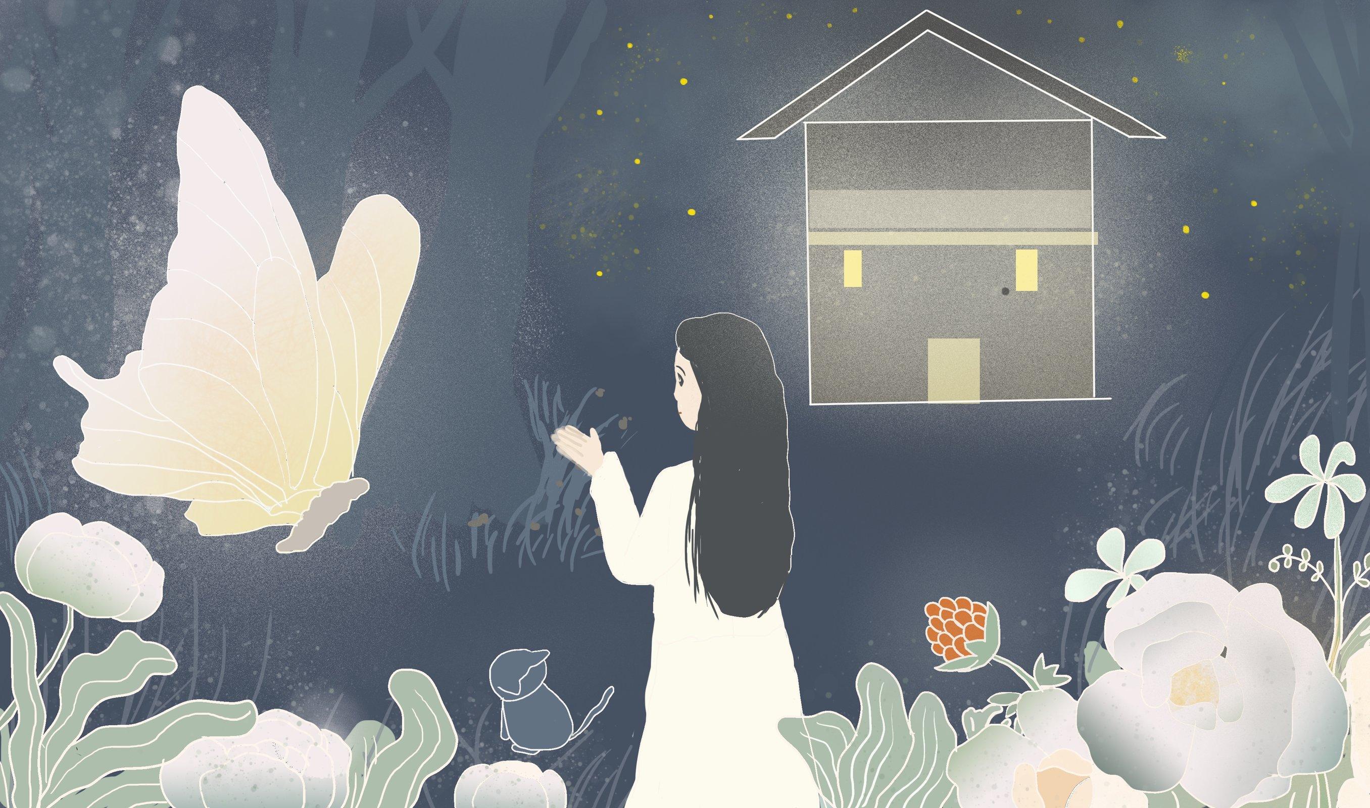 P站画师作品「花园小镇故事」
